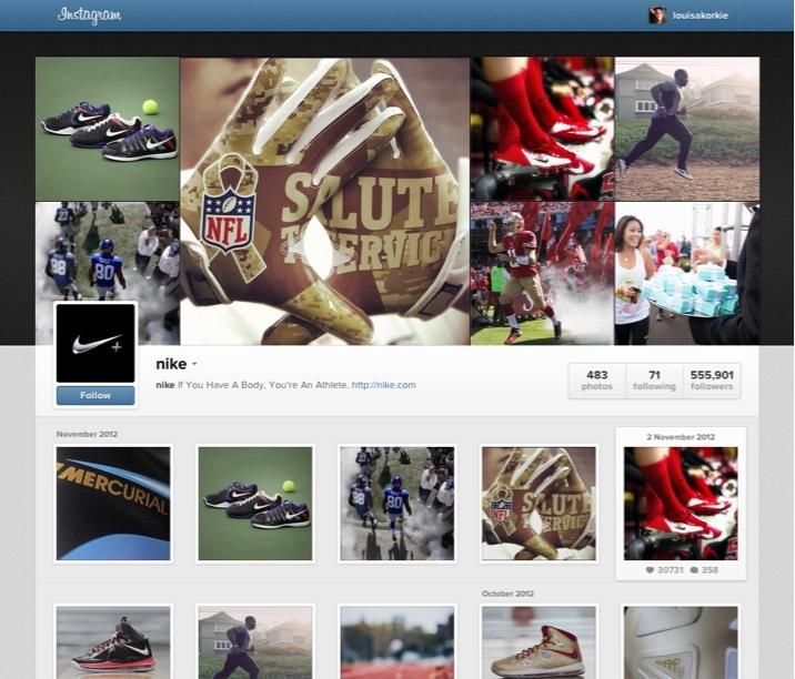 New Instagram web profile